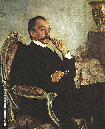 Portrait of Prince Viadimir Mikhailovicn Golitsyn 1906 By Valentin Serov Replica Paintings on Canvas - Reproduction Gallery