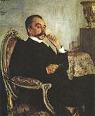 Portrait of Prince Viadimir Mikhailovicn Golitsyn 1906 By Valentin Serov