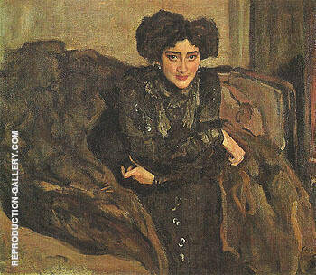 Portrait of Yevdokia Loseva 1903 By Valentin Serov Replica Paintings on Canvas - Reproduction Gallery