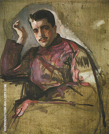 Portrait of Sergei Diaghilev 1904 By Valentin Serov - Oil Paintings & Art Reproductions - Reproduction Gallery