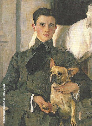 Portrait of Count Felike Feliksovich Sumarokov Elston Later Prince Yusupov 1903 By Valentin Serov - Oil Paintings & Art Reproductions - Reproduction Gallery