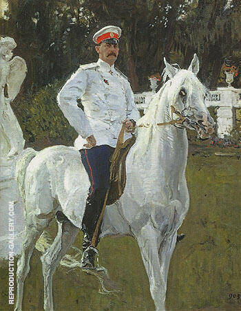 Portrait of Prince Felix Yusupov count Sumarokov Elston 1903 By Valentin Serov - Oil Paintings & Art Reproductions - Reproduction Gallery