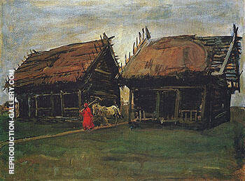 Barns 1904 By Valentin Serov Replica Paintings on Canvas - Reproduction Gallery