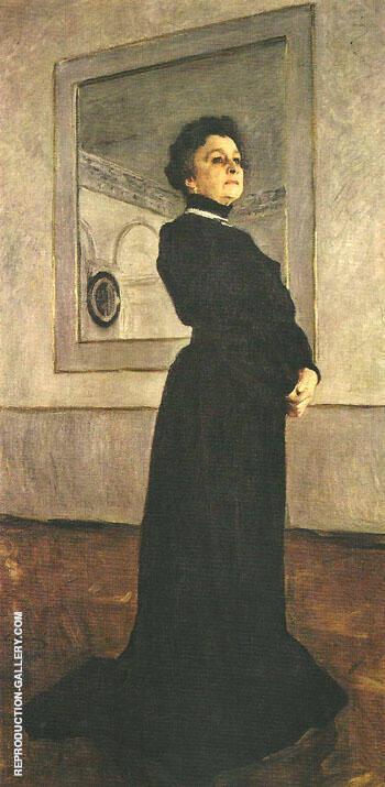 Portrait of Maria Nikolayevna Yermolova 1905 By Valentin Serov