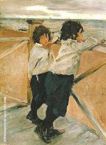 Children Sasha and Yura Serov 1899 By Valentin Serov