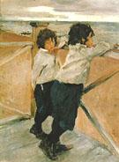 Children Sasha and Yura Serov 1899 By Valentin Serov