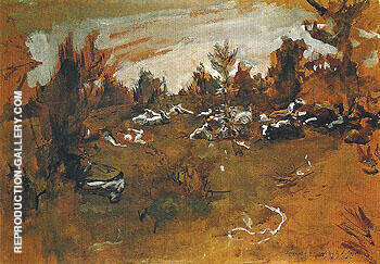 Herd 1890 By Valentin Serov - Oil Paintings & Art Reproductions - Reproduction Gallery