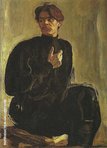 Portrait of the Writer Maxim Gorky 1905 By Valentin Serov