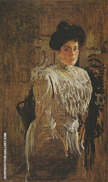 Reproduction of Portrait of Margarita Morozava 1910 by Valentin Serov | Oil Painting Replica On CanvasReproduction Gallery
