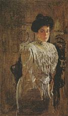 Portrait of Margarita Morozava 1910 By Valentin Serov