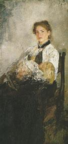 Portrait of Nadezhda Derviz with her Child c1888 By Valentin Serov