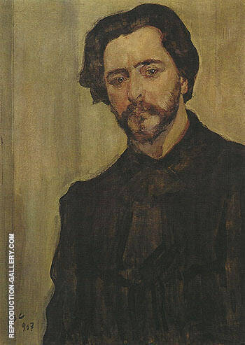 Portrait of the Writer Leonid Andreev 1907 By Valentin Serov