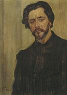 Portrait of the Writer Leonid Andreev 1907 By Valentin Serov