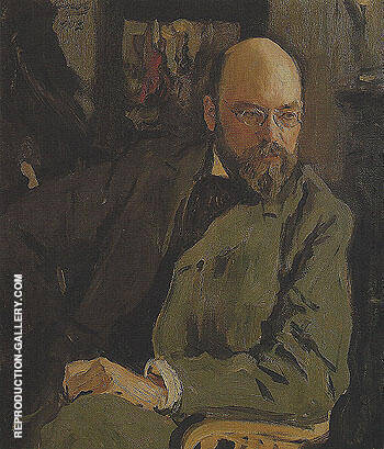 Portrait of the Artist Is Ostroukhov 1902 By Valentin Serov Replica Paintings on Canvas - Reproduction Gallery
