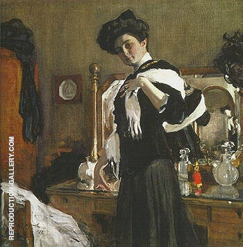 Portrait of Henriette Girshman 1907 By Valentin Serov - Oil Paintings & Art Reproductions - Reproduction Gallery