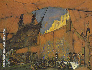 Set design for the Opera Judith Act III Holofernes Tent 1907 By Valentin Serov