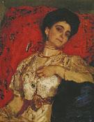 Portrait of Maria Akimova 1908 By Valentin Serov