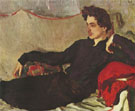 Portrait of Nikolai Pozniakov 1908 By Valentin Serov