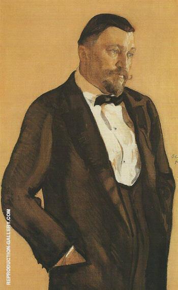 Portrait of Alexei Morozov 1909 By Valentin Serov