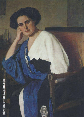 Portrait of Yelena Balina 1911 By Valentin Serov - Oil Paintings & Art Reproductions - Reproduction Gallery