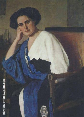 Portrait of Yelena Balina 1911 By Valentin Serov