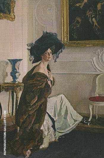 Reproduction of Portrait of the Princess Olga Orlova 1911 by Valentin Serov | Oil Painting Replica On CanvasReproduction Gallery