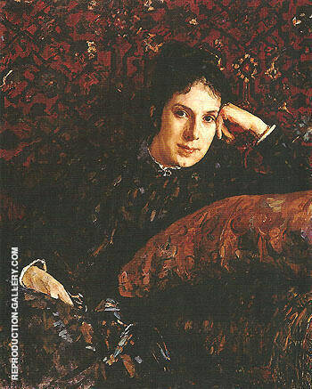 Portrait of Yekaterina Chokolova 1887 By Valentin Serov - Oil Paintings & Art Reproductions - Reproduction Gallery