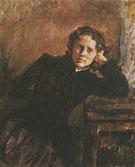 By the Window Portrait of Olga Trubnikova 1885 By Valentin Serov