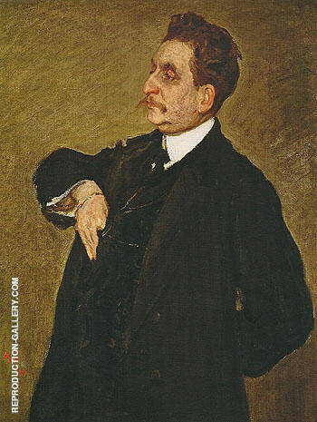 Portrait of Vladimir Osipovich Girshman 1911 By Valentin Serov - Oil Paintings & Art Reproductions - Reproduction Gallery
