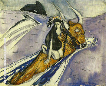 The Rape of Europe Sketch 1910 By Valentin Serov