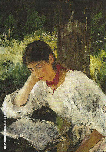 Portrait of Adelaida Simonorich 1889 By Valentin Serov - Oil Paintings & Art Reproductions - Reproduction Gallery