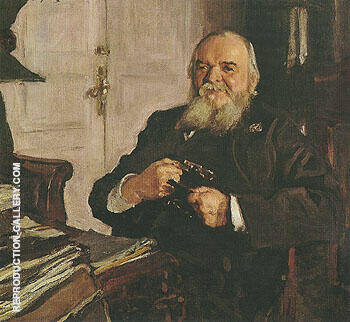 Reproduction of Portrait of Alexander Turchainov 1906 by Valentin Serov | Oil Painting Replica On CanvasReproduction Gallery