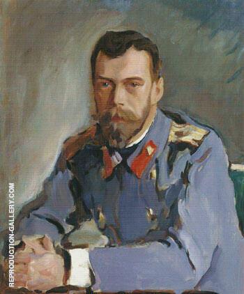 Portrait of Emperor Nicholas II 1900 By Valentin Serov