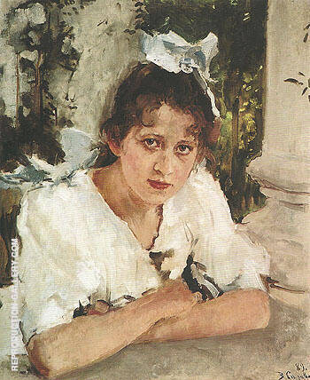 Portrait of Prakovya Mamontova 1889 By Valentin Serov Replica Paintings on Canvas - Reproduction Gallery