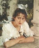 Portrait of Prakovya Mamontova 1889 By Valentin Serov