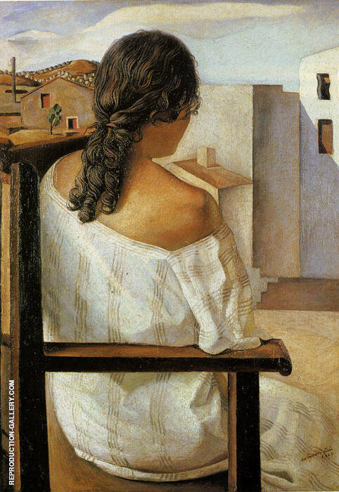 Seated Girl from the Back by Salvador Dali 1925 By Salvador Dali - Oil Paintings & Art Reproductions - Reproduction Gallery