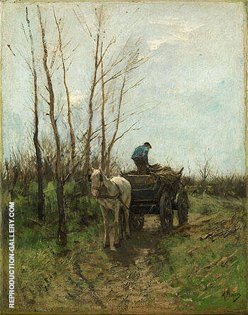 Gathering Wood By Anton Mauve - Oil Paintings & Art Reproductions - Reproduction Gallery