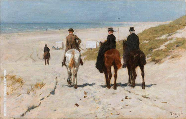 Morning Ride on the Beach 1878 Painting By Anton Mauve