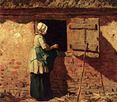 A Peasant Woman by a Barn By Anton Mauve