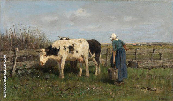 Milking Time 1875 Painting By Anton Mauve - Reproduction Gallery