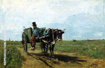 The Cart Driver 1867 By Anton Mauve - Oil Paintings & Art Reproductions - Reproduction Gallery