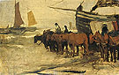 Towing into Sea of a Fishing Boat By Anton Mauve