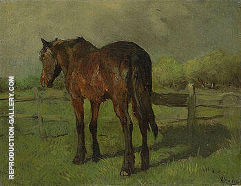 Horse By Anton Mauve - Oil Paintings & Art Reproductions - Reproduction Gallery