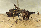 Fishing Boat on the Beach By Anton Mauve