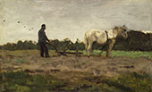 Plowing c1885 By Anton Mauve
