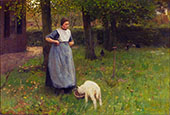 Woman with Kid in Laren By Anton Mauve