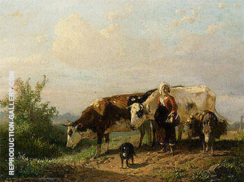 The Cowherdess Painting By Anton Mauve - Reproduction Gallery