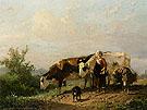 The Cowherdess By Anton Mauve
