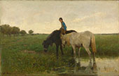 Watering Horses 1871 By Anton Mauve