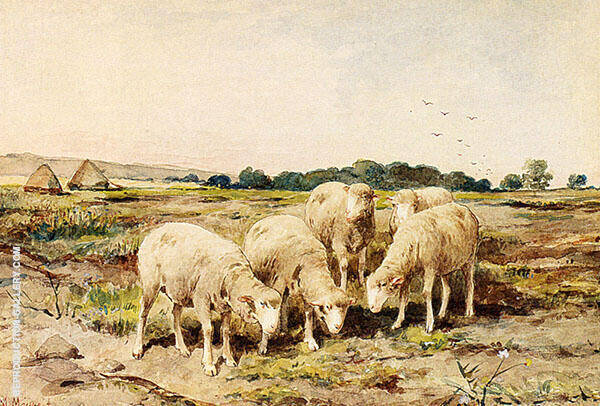 Grazing Sheep By Anton Mauve Replica Paintings on Canvas - Reproduction Gallery
